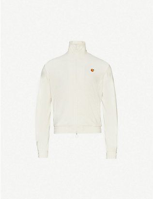 CASABLANCA: Funnel-neck embroidered cotton-blend jacket