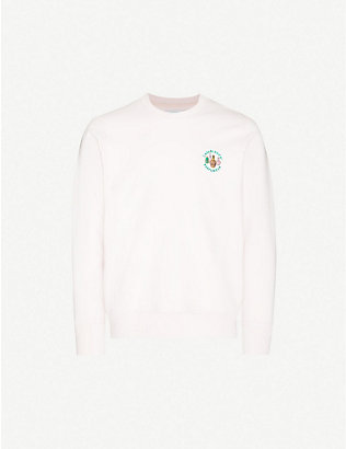 CASABLANCA: Parfumer embroidered cotton-jersey sweatshirt