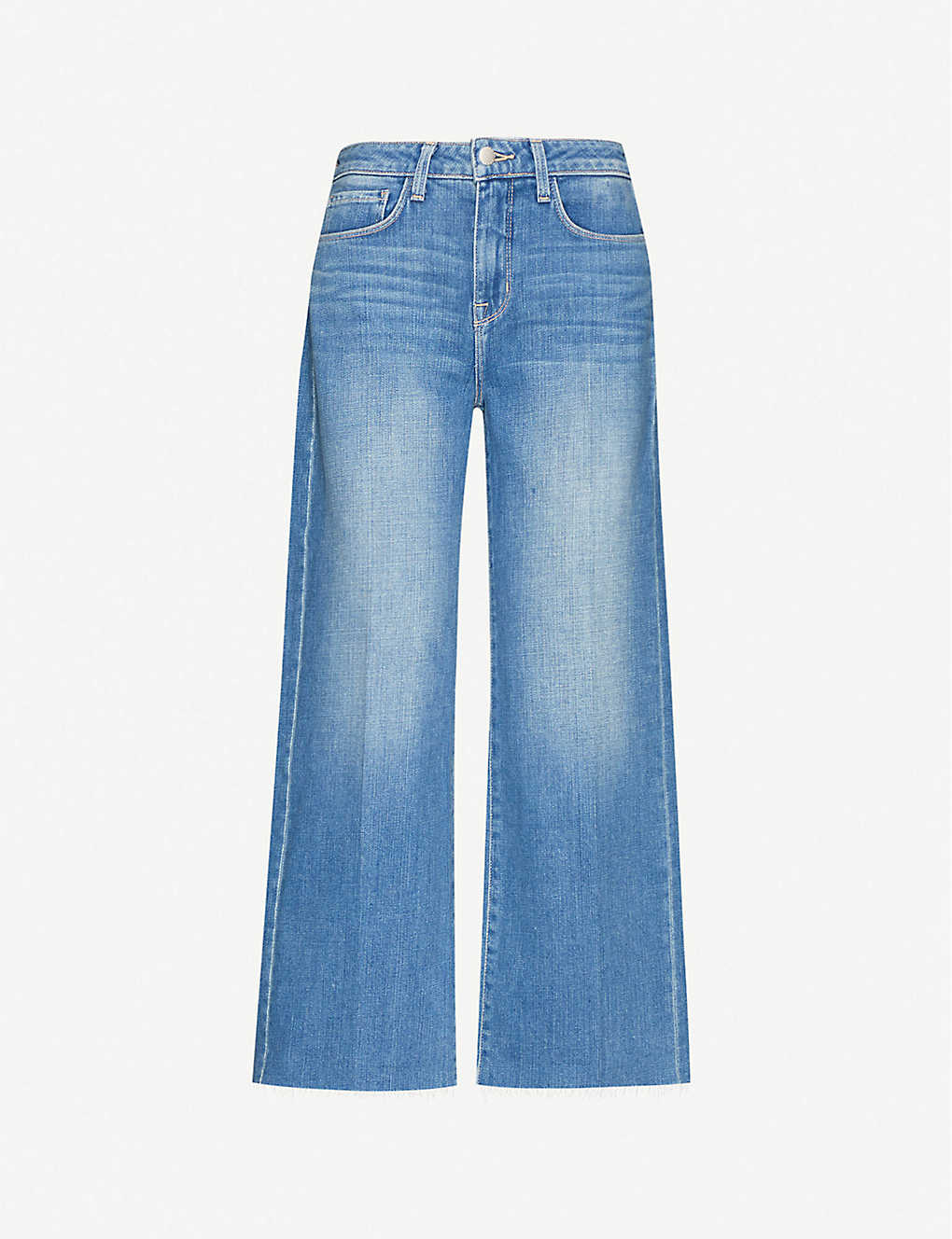 L'AGENCE: Danica cropped high-rise stretch-denim jeans