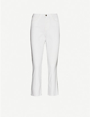L'AGENCE: Nadia straight cropped high-rise jeans