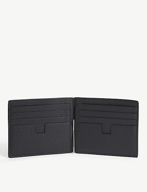TOM FORD Fold leather wallet