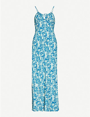 FREE PEOPLE: Bon Voyage floral-print woven midi dress