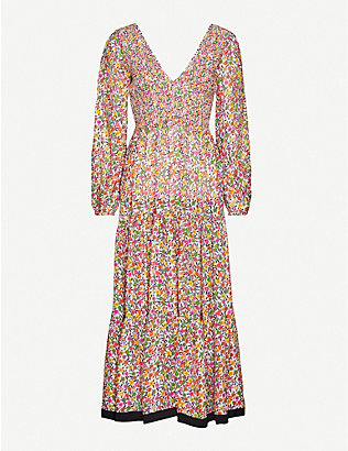 RIXO: Brooke floral-print woven maxi dress