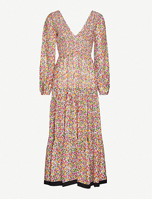 RIXO Brooke floral-print woven maxi dress
