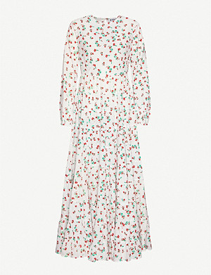 RIXO Pip floral-print cotton maxi dress