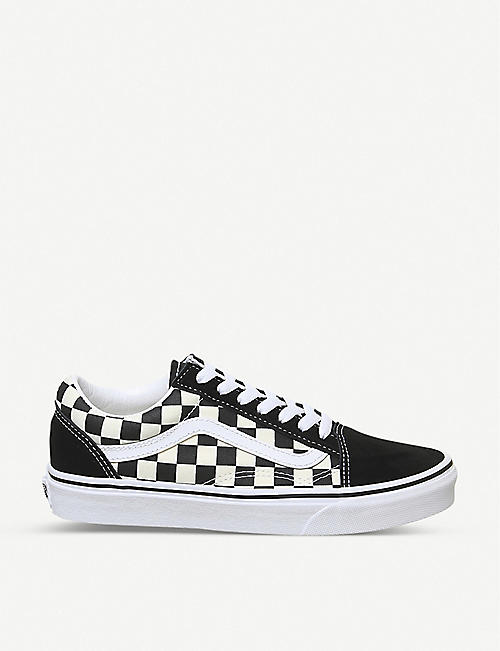 VANS: Old Skool check trainers