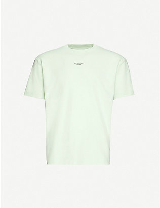 DROLE DE MONSIEUR: Graphic-print cotton-jersey T-shirt