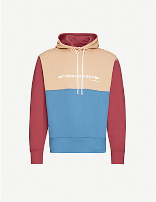 DROLE DE MONSIEUR: Relaxed-fit colour-blocked cotton-jersey hoody