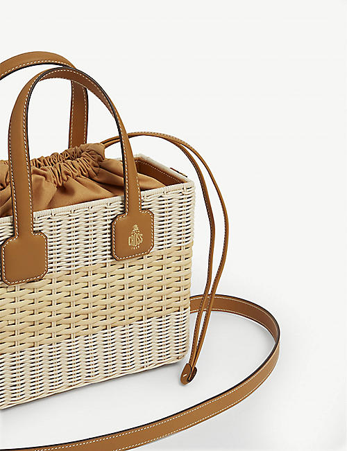 MARK CROSS Manray rattan tote bag