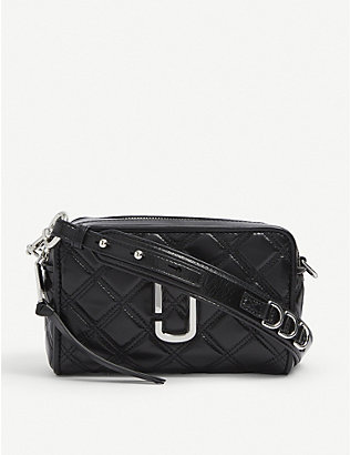 MARC JACOBS: Softshot 21 quilted leather cross-body bag
