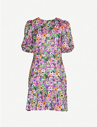 NEVER FULLY DRESSED: Monaco floral-print woven mini dress