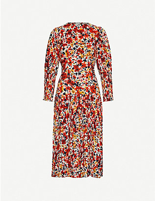 NEVER FULLY DRESSED: Dakota floral-print crepe midi dress