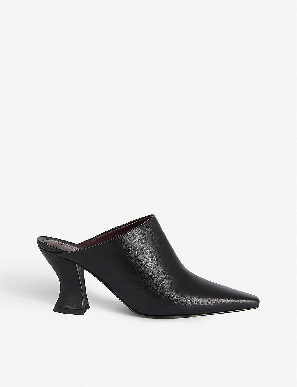 BOTTEGA VENETA: Block heel leather mules