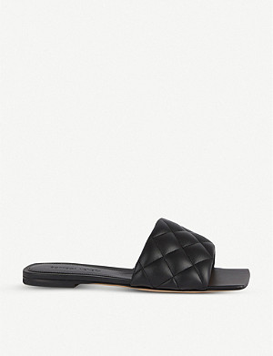 BOTTEGA VENETA Quilted leather flat sandals