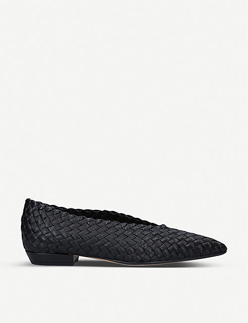 BOTTEGA VENETA: Intrecciato woven leather flats