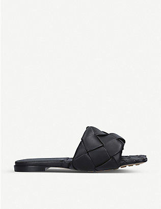 BOTTEGA VENETA: Lido Intrecciato flat leather sandals