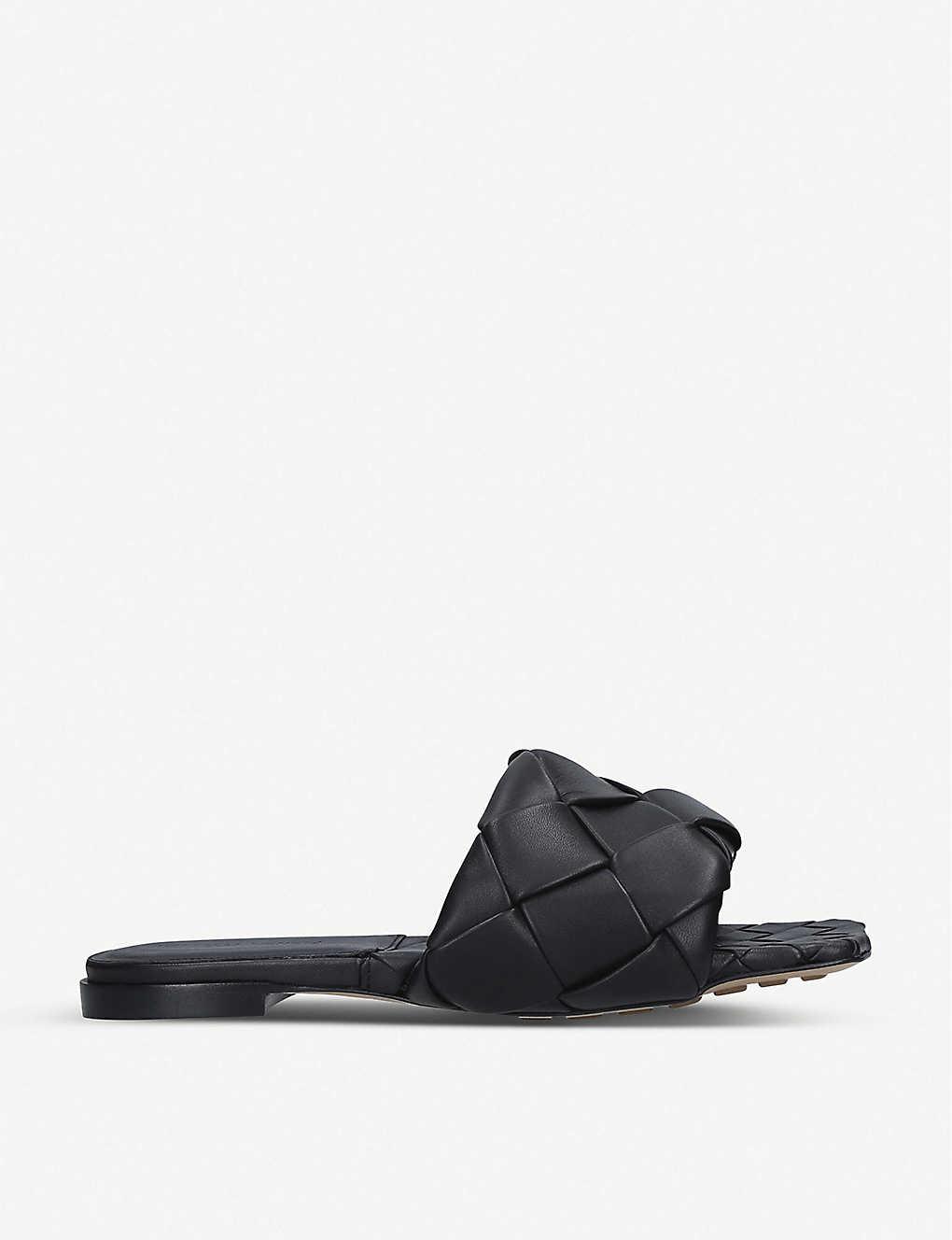 BOTTEGA VENETA BV Lido Intrecciato woven leather mules. #