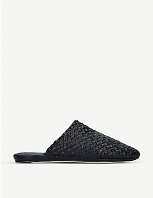 BOTTEGA VENETA: Intrecciato woven leather mules