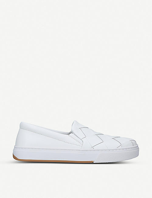 BOTTEGA VENETA: Dodger intrecciato-woven leather skate shoes