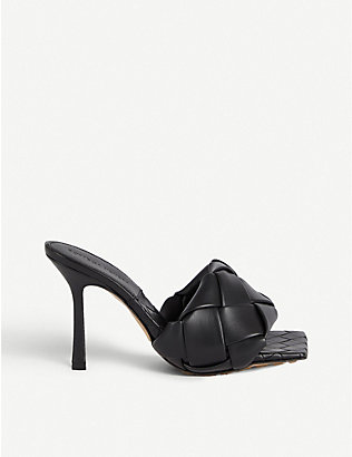 BOTTEGA VENETA: Lido Intrecciato-woven leather sandals