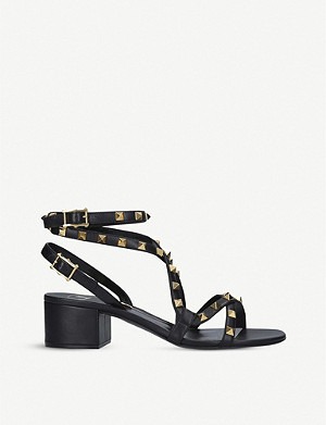 VALENTINO Rockstud Flair leather heeled sandals