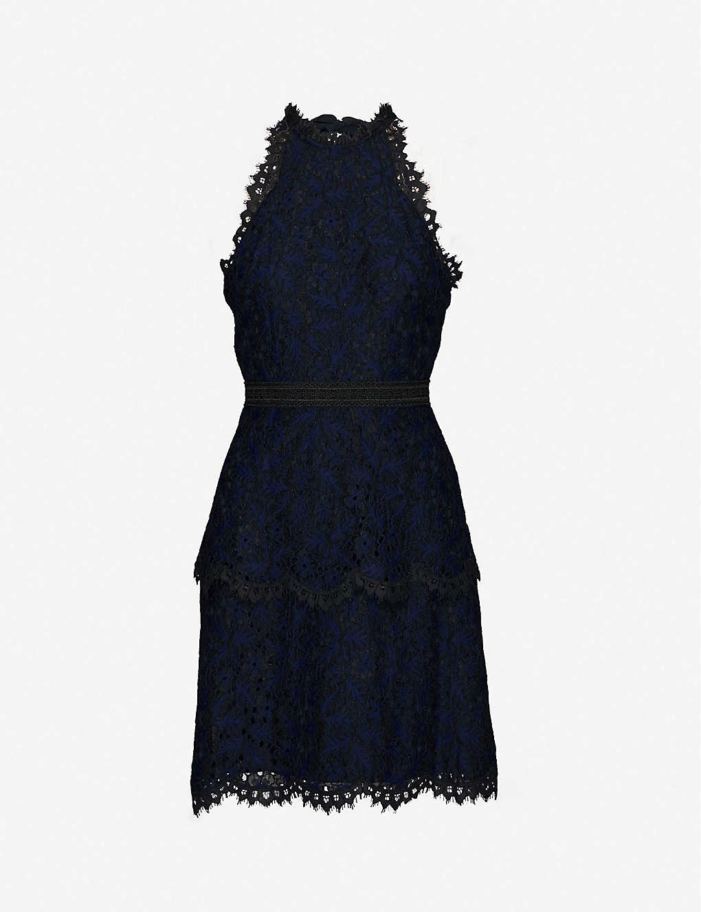 WHISTLES: Talie halter-neck lace dress