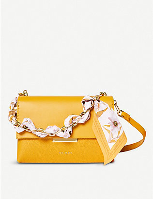 TED BAKER: Elsy scarf-handle leather cross-body bag