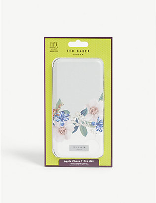 TED BAKER: Jamboree floral-printed iPhone 11 Pro Max flip case