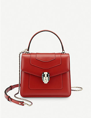 BVLGARI: Serpenti Forever leather cross-body bag