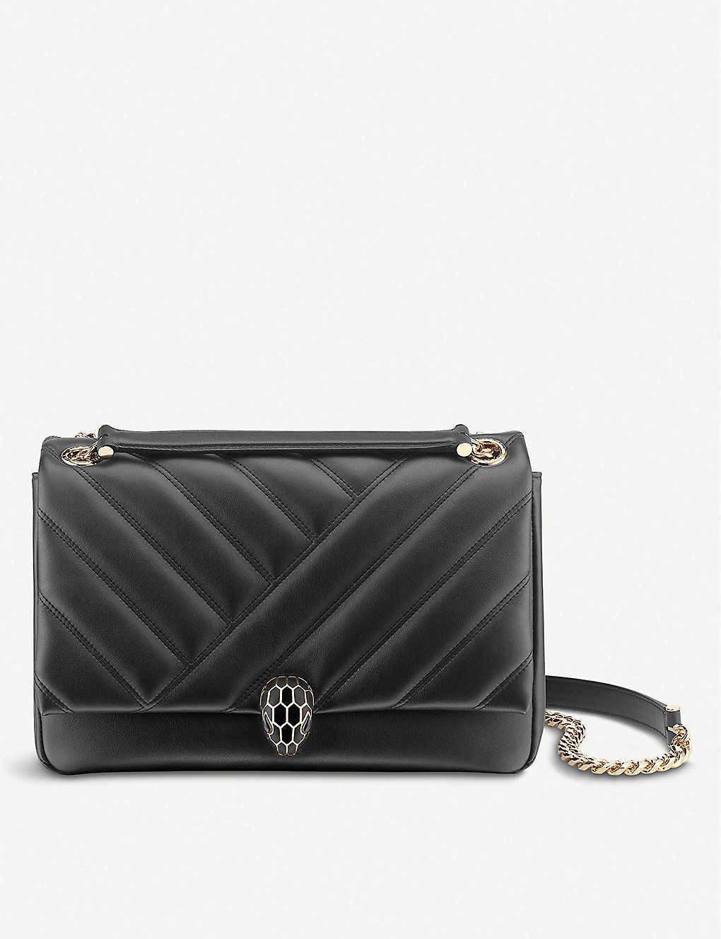 BVLGARI: Serpenti Cabochon leather shoulder bag