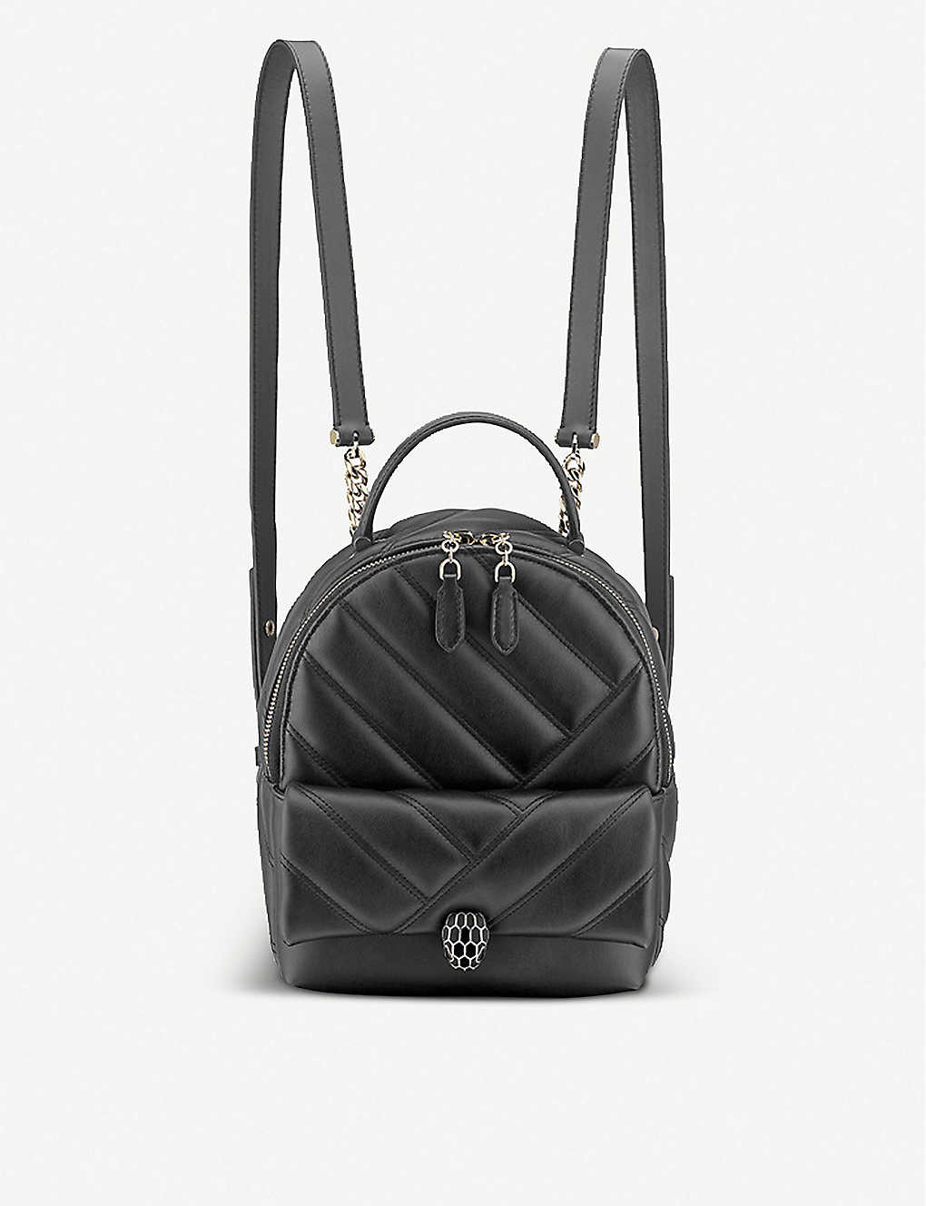 BVLGARI: Serpenti Cabochon leather backpack