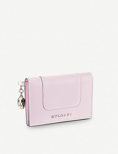 BVLGARI: Serpenti Forever leather folded cardholder