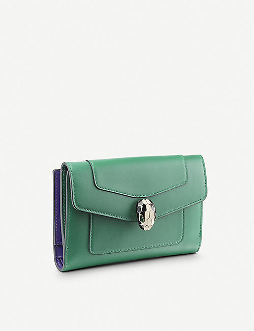 BVLGARI: Serpenti Forever leather pochette