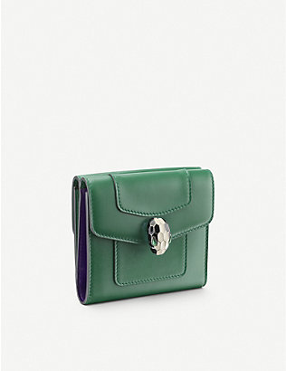 BVLGARI: Serpenti Forever leather wallet