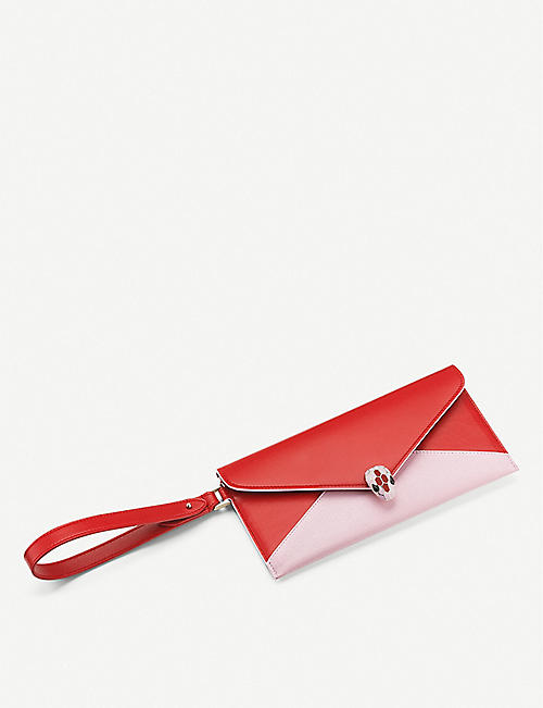 BVLGARI Serpenti Forever leather envelope pouch