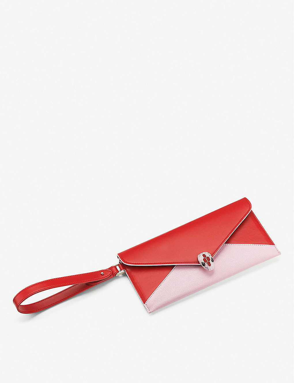 BVLGARI: Serpenti Forever leather envelope pouch