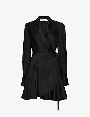 ZIMMERMANN: Wrap silk mini dress