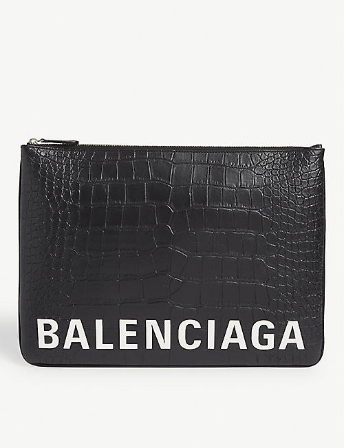 BALENCIAGA Ville large leather pouch