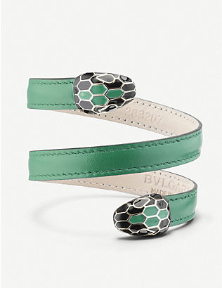BVLGARI: Serpenti forever leather bracelet