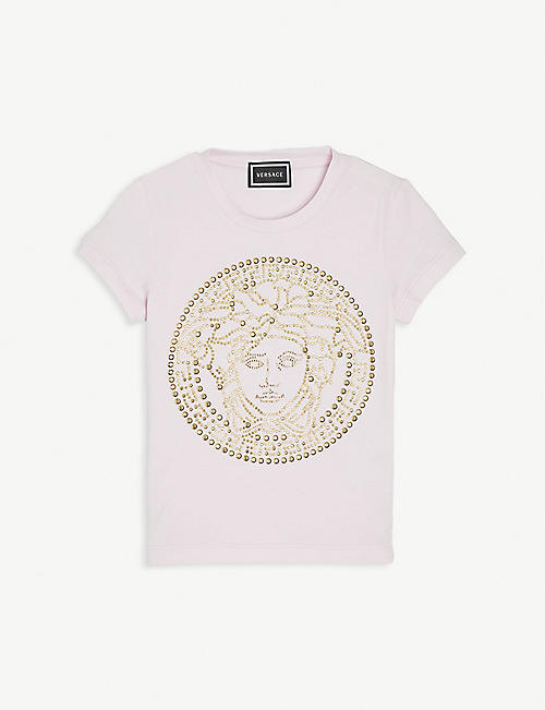 VERSACE Sequin-embellished cotton T-shirt 4-12 years
