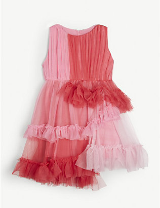 RASPBERRY PLUM: Astrid tulle woven dress 3-14 years