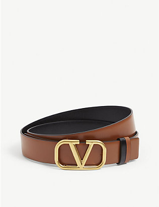VALENTINO GARAVANI: VLOGO buckled leather belt