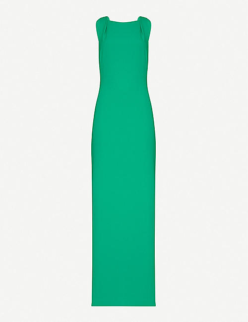 WHISTLES Tie back woven maxi dress