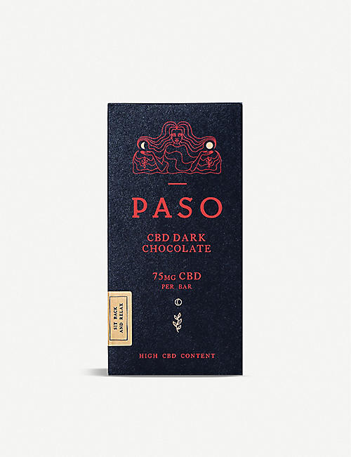 PASO: CBD 75mg dark chocolate bar 65g