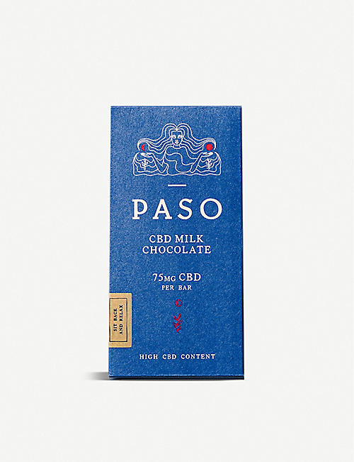 PASO: CBD 75mg milk chocolate bar 65g