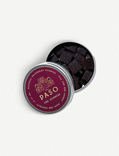 PASO: Cranberry CBD 280mg gummy sweets 28g