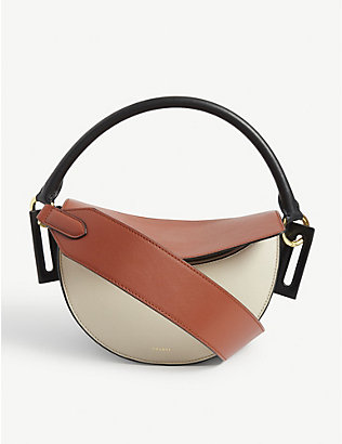 YUZEFI: Dip leather crossbody bag