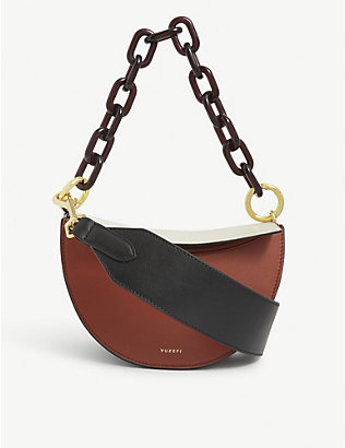 YUZEFI: Doris leather shoulder bag
