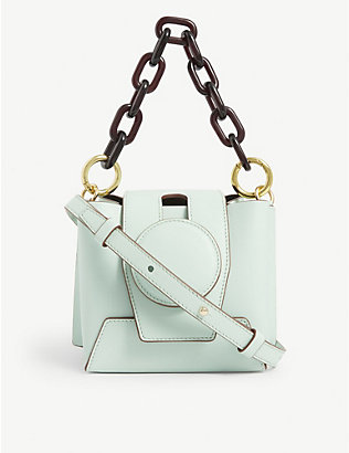 YUZEFI: Daria leather bucket bag
