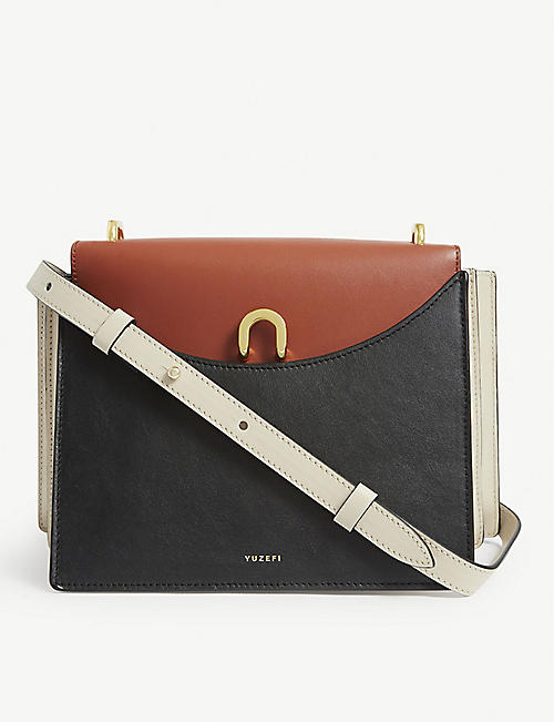 YUZEFI: Eloise leather crossbody bag